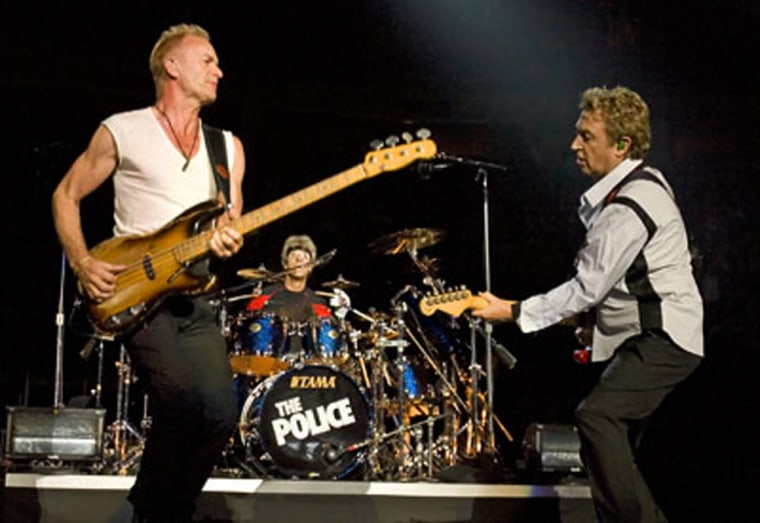 The average scalped ticket price to a date for this summer'sPolice tour is $221.88.