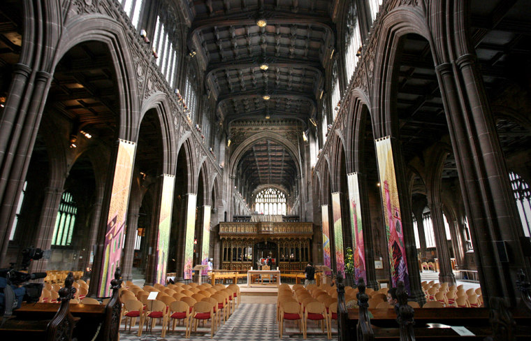 The interior of Manchester cathedral is