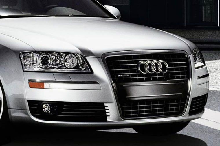 Vehicles' front grilles, like the one on this Audi, have been growing since the early 1990s, when some vehicles barely had them at all.