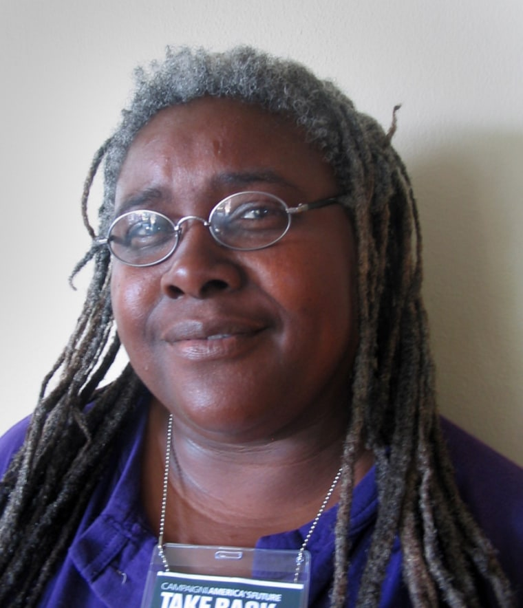 New York union organizer Florence Johnson took part in the Take Back America conference in Washington