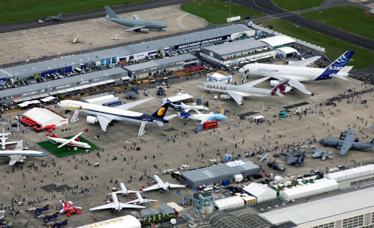 The enviroment is a big theme this year at the 47th Paris Air Show in Le Bourget, France.
