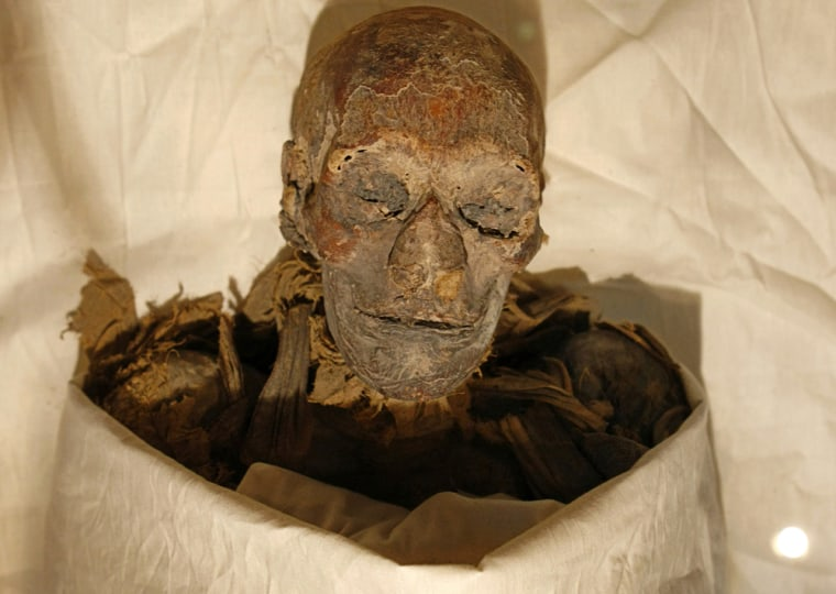 The mummified remains of Queen Hatshepsu