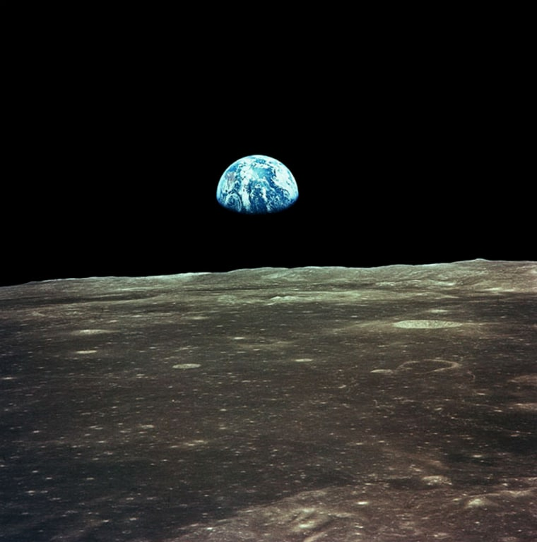 Space tourists are guaranteed a window view like no other from a lunar distance. Shown here is photo from Apollo 11 mission in 1969.