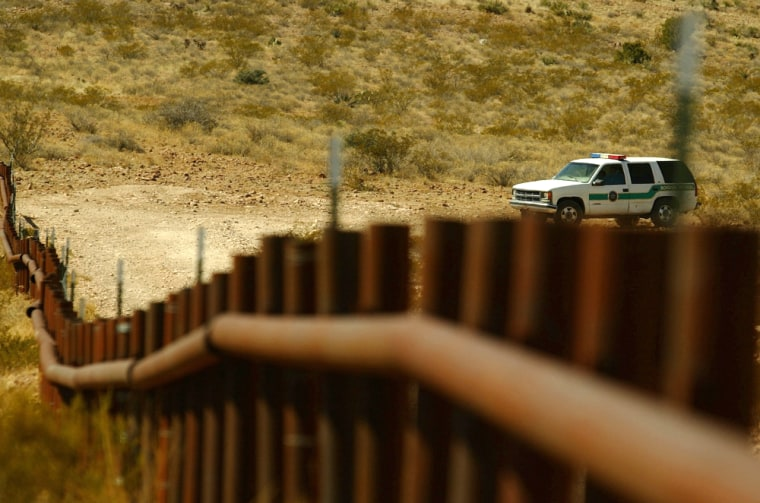 This part of the fence along the U.S.-Mexico border is OK, but a1.5-mile stretch of the barrier was mistakenly built in Mexican territory.