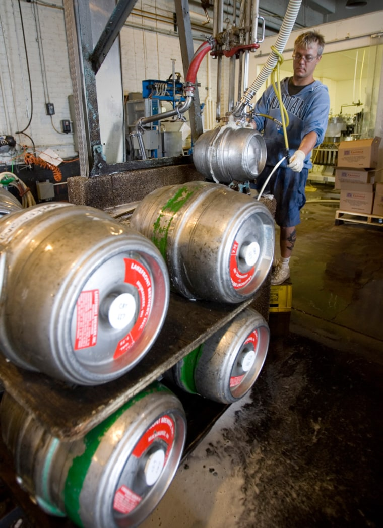 Empty kegs can fetch $15 to $55 at scrap yards. Brewers may have to spend up to $150 to replace lost ones.
