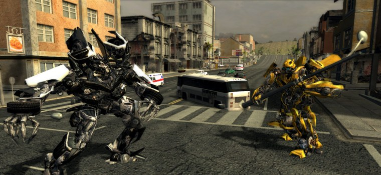 """Bumblebee squares off against Barricade in a clash of the titans. Too bad the rest of """"Transformers"""" is filled with cookie-cutter missions and un-fun gameplay."""