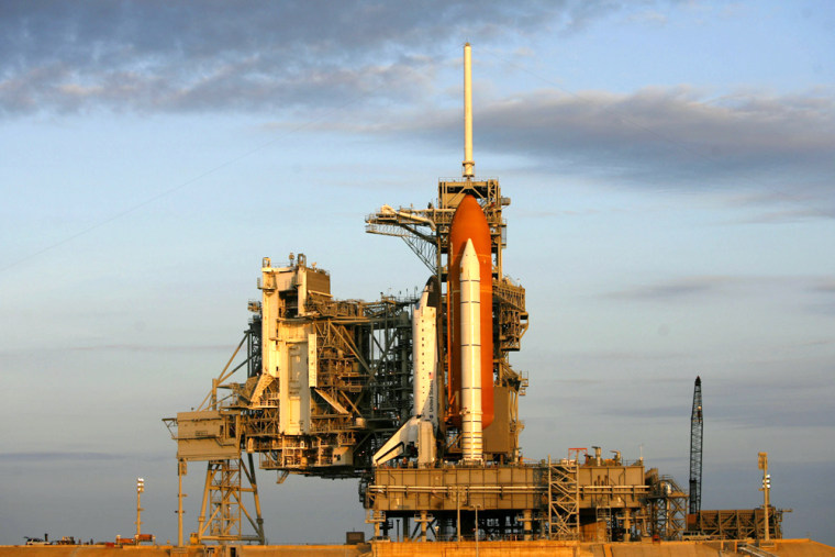 Space Shuttle Endeavor Is Rolled Out To Launch Pad