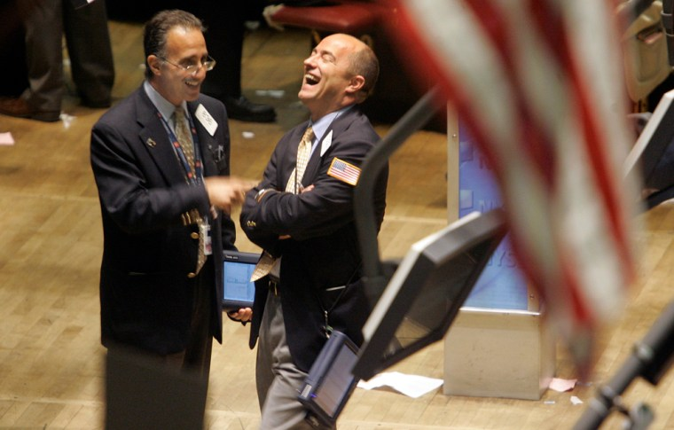 Traders on the floor of the New York Stock exchange had reason to smile at closing Thursday.