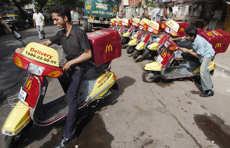 McDonald's offers delivery to callers in two dozen congested urban centers across the developing world, a business that's been growing at 20% or more a year.