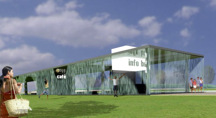 The Digital Water Pavilion will contain an exhibition area, a cafe and public spaces.