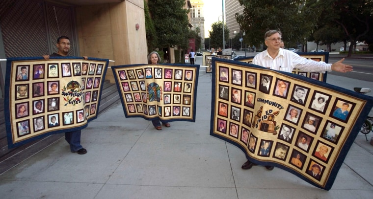 Members of the Survivors Network of those Abused by Priests protest outside Cathedral of Our Lady of the Angels, seat of the Archdiocese of Los Angeles, in September 2006.