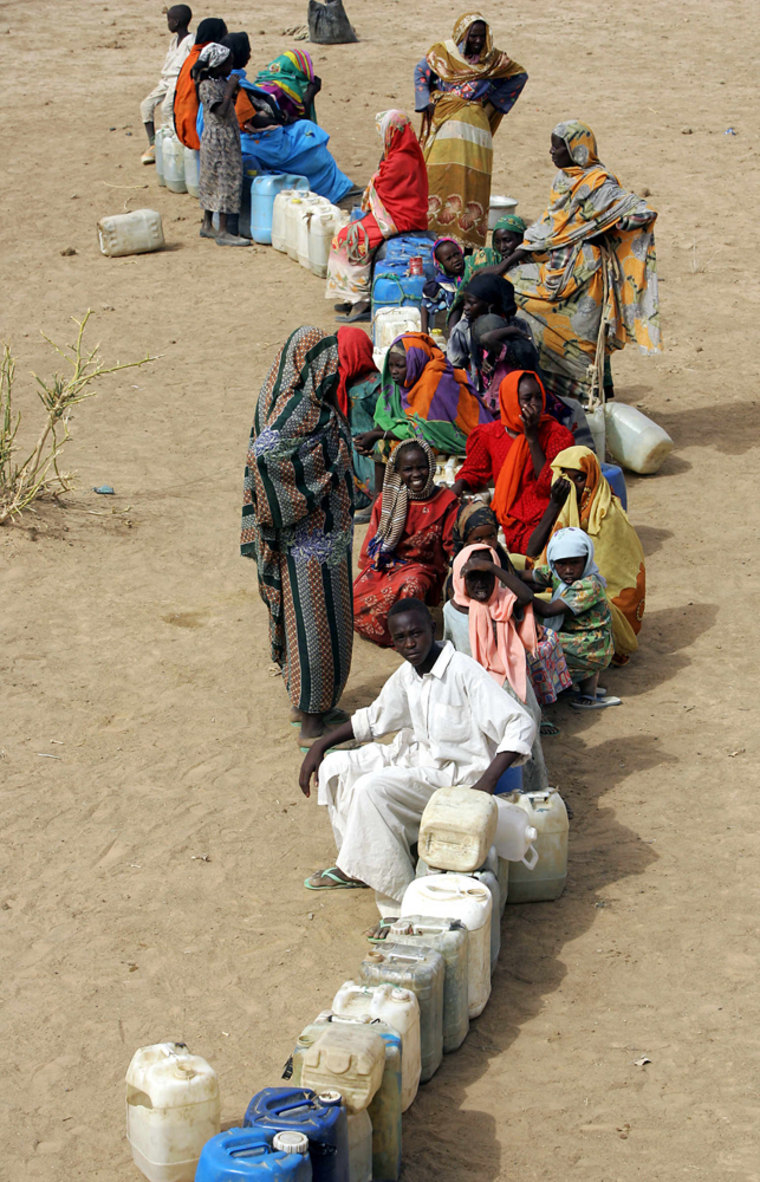 (FILES) Sudanese refugees from the Darfu