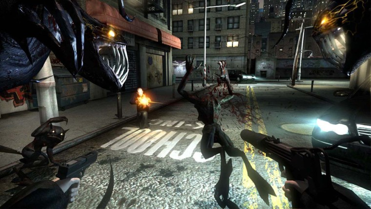 """The National Institute on Media and the Family says nearly half of kids between 8 and 12 have played M-rated games, like """"The Darkness,"""" shown here, which are intended for those 17 and over."""