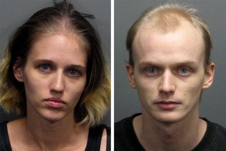 Authorities say Iana Straw,left, and her husband Michael Straw were so obsessed with online gaming that they left their babies starving and suffering other health problems.