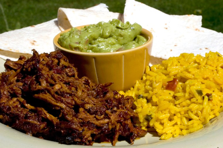 For a real taste of Mexico, try Canamelar Style Baked Pork. Serve with rice, guacamole and tortillas.