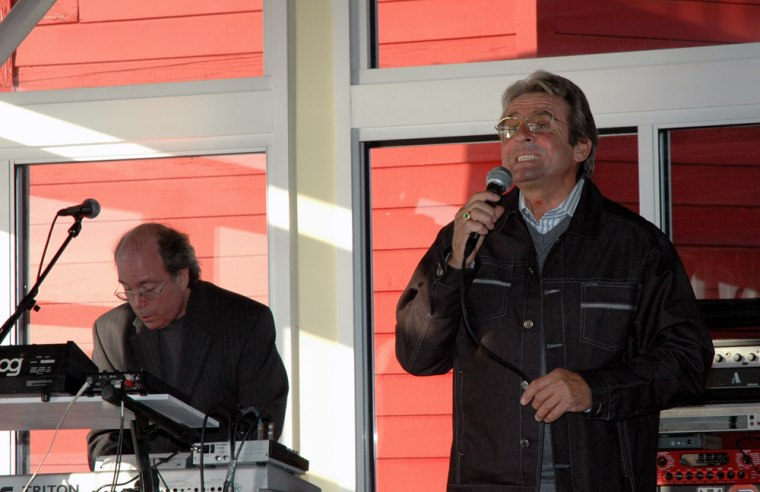 Former Monkee Davy Jones sings at a Kohl's Cares for Kids Event at Chelsea Piers on Feb. 6.
