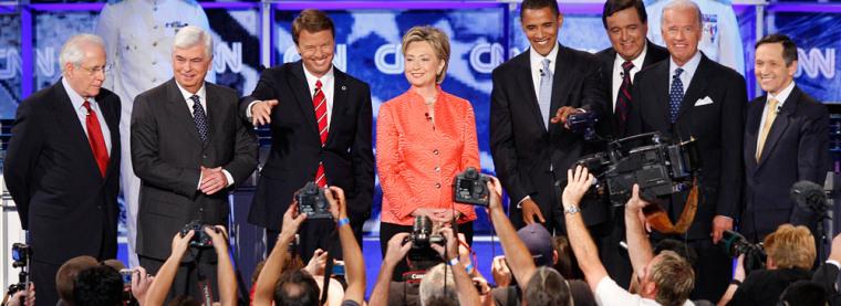 Mike Gravel, Christopher Dodd, John Edwards, Hillary Clinton, Barack Obama, Bill Richardson, Joe Biden, Dennis Kucinich