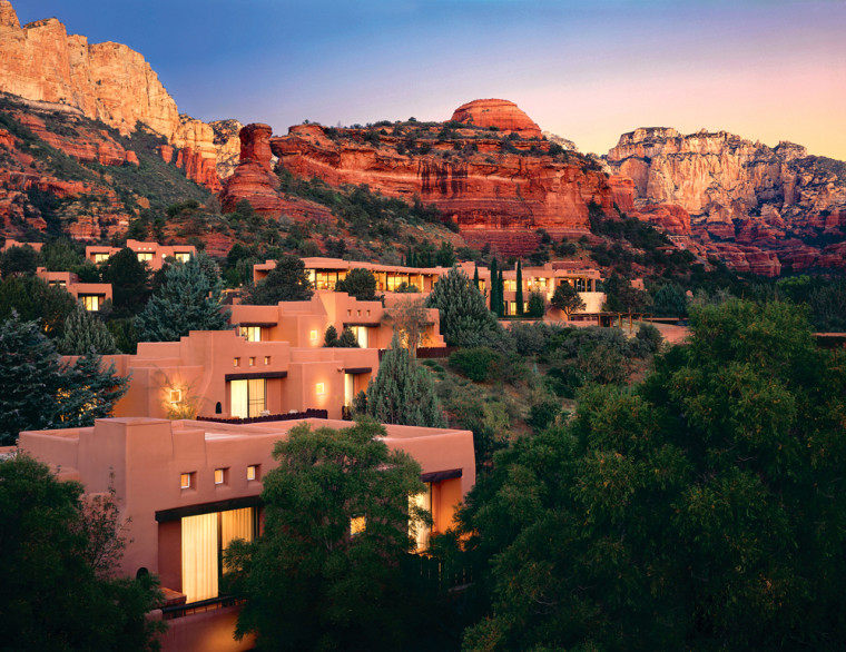 Mii'amo Destination Spa at Enchantment Resort in Sedona, Arizona, has 14 spa guest rooms and two deluxe Spa Suites housed in six traditional, adobe-style casitas.