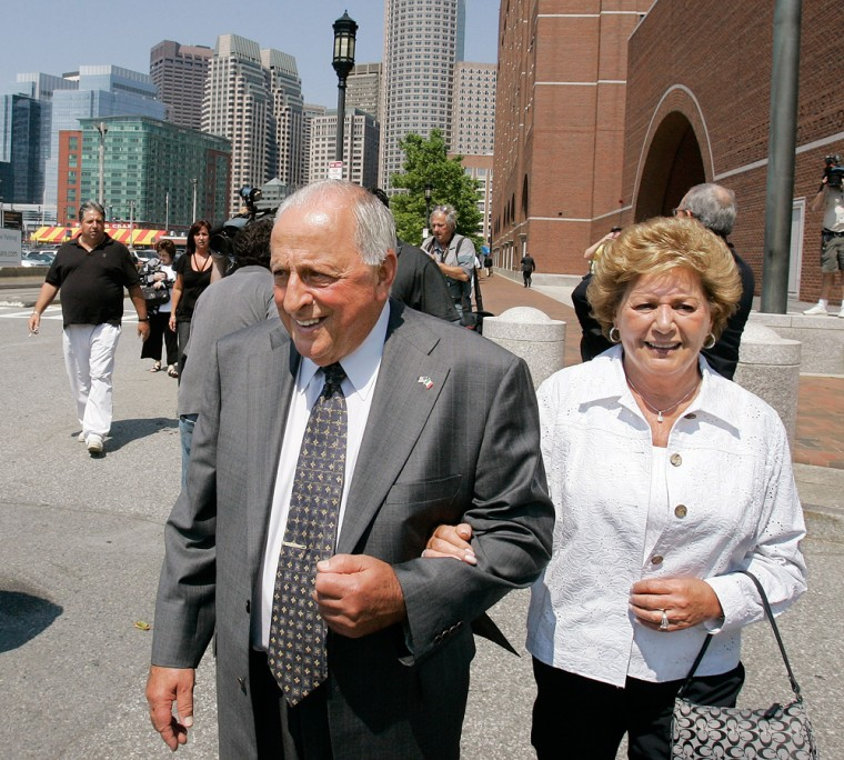 Peter Limone with his wife, Olympia, was released from prison in 2001 afterit was revealedthat the FBI withheld evidence of hisinnocence to protect an informant.