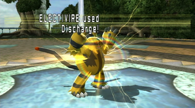 Pokemon attacks looks cool in the Wii game— it's just too bad the Pokemon themselves never really tussle.