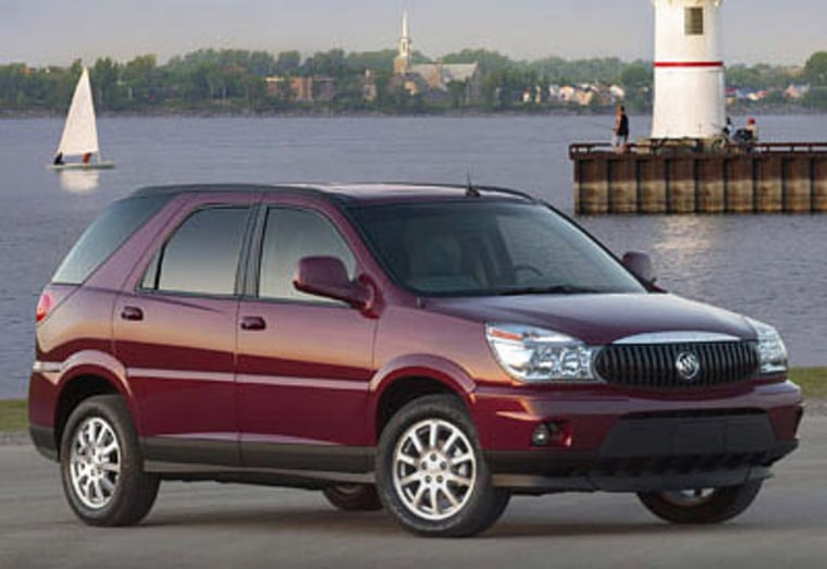 The Buick Rendezvous tops the list of cars you don't want to be in during an accident.