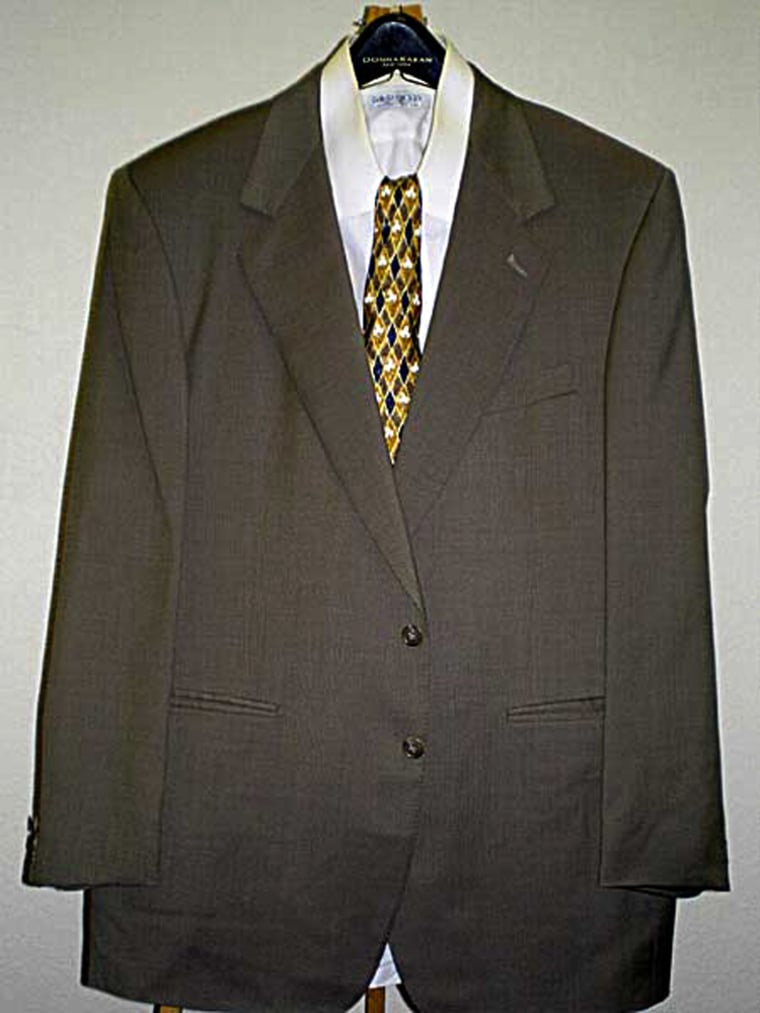 This suit -- worn by O.J. Simpson on the day he was acquitted for murder, according to the seller -- was being offered on eBay recently for a high bid of $1,750.