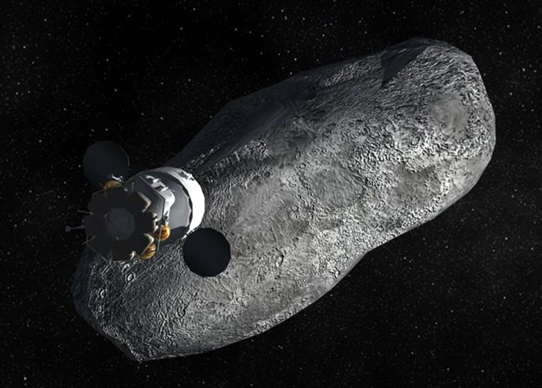 NASA is considering sending astronauts on an asteroid mission, as illustrated here.