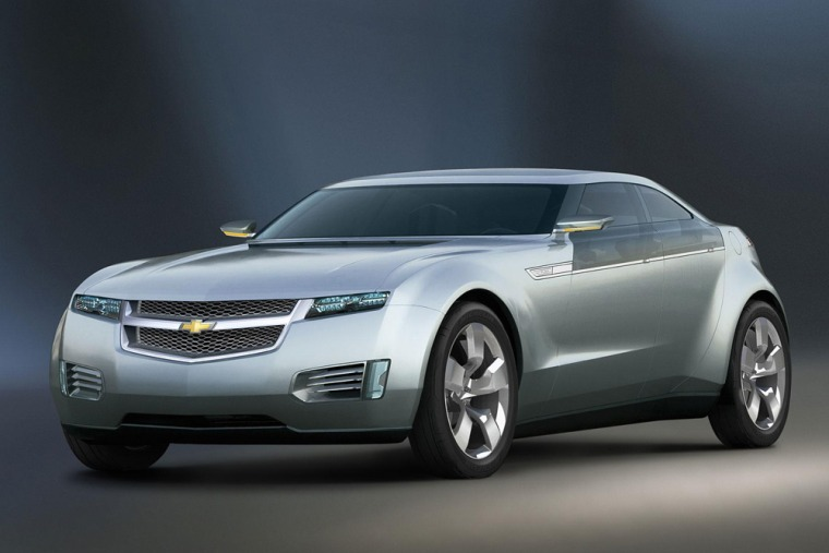 Chevrolet, which has put a lot of time and money into its Volt concept car, shown here, plans to have a plug-in ready by 2012.