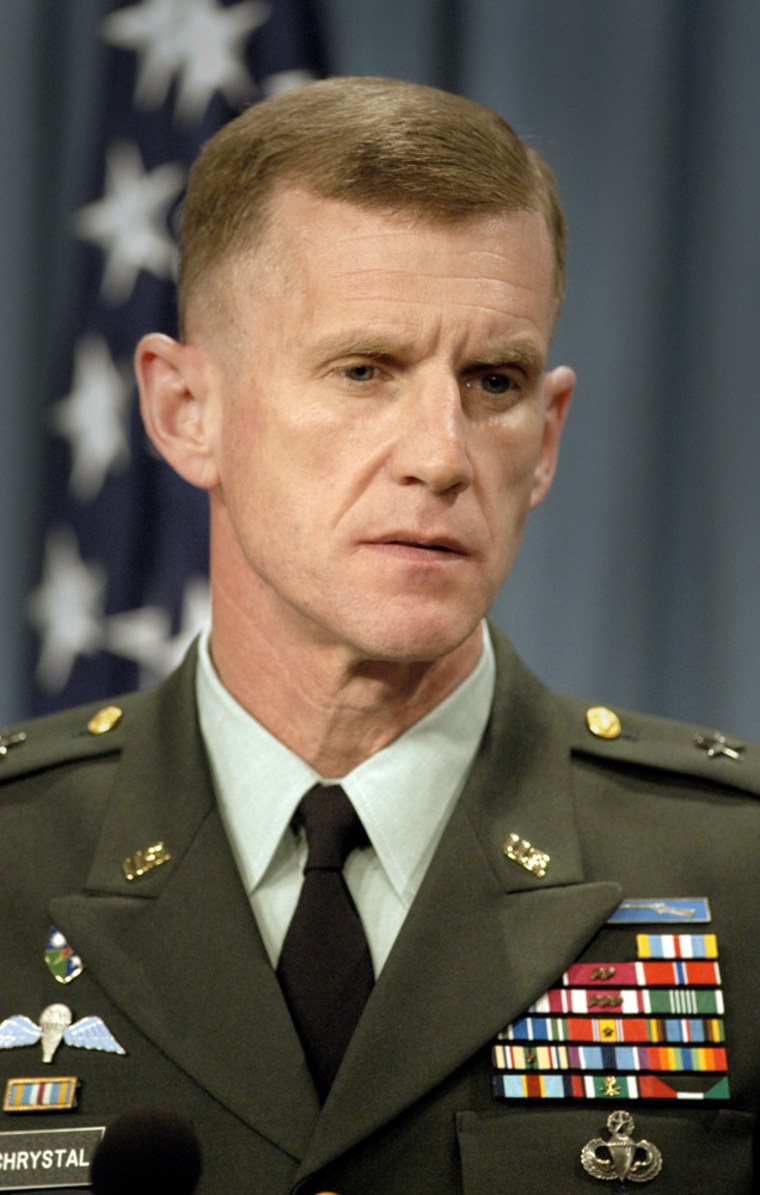 Lt. Gen. Stanley McChrystal acknowledged he had suspected several days prior to approving the Silver Star citation that Tillman may have died by fratricide.