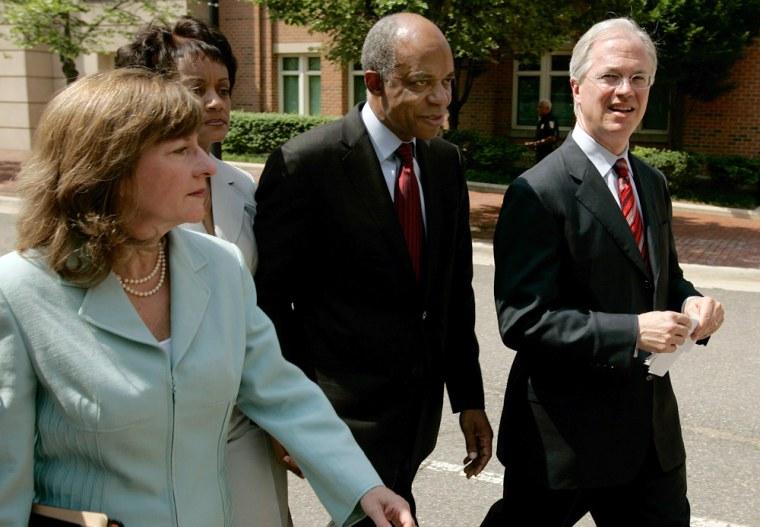 U.S. Democratic Representative William Jefferson, arraigned on corruption charges in Virginia.