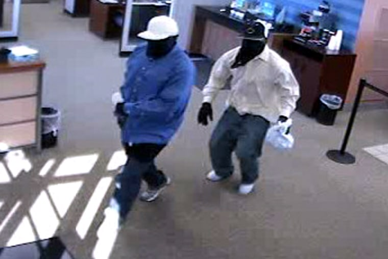 The suspects, believed to be in their late teens or early 20s, pulleda gun inside a Chase bank branch and escaped with an undisclosed amount of money.