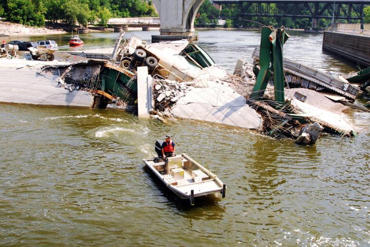 Navy Divers Investigate Site Of Bridge Collapse