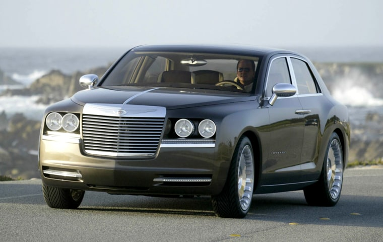 Chrysler has abandoned plans to build a large luxury sedan based on its Imperial concept car, left, because of looming legislation for stricter fuel economy standards.