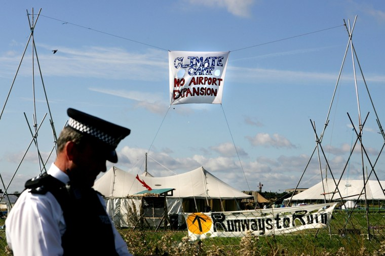 Heathrow Protestors Join Camp For Climate Action