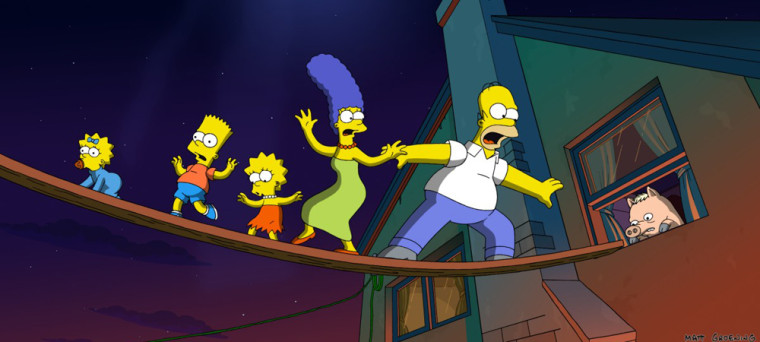 """Scene from """"The Simpsons Movie"""""""