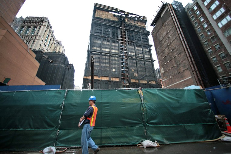 The site of the Deutsche Bank building remained closed for work Monday as investigators looked into the cause of a deadly blaze.