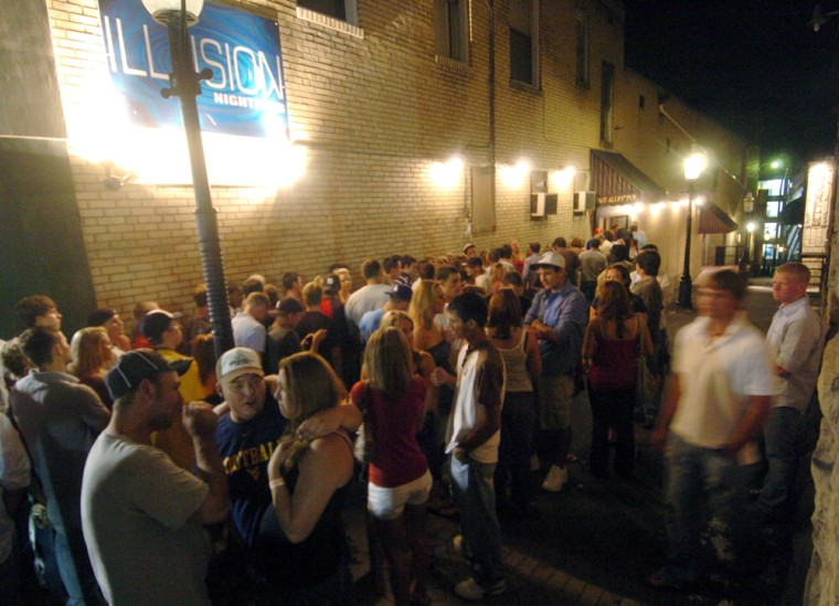 """WVU Senior Katie O'Harathe school is No. 1 because """"no matter what kind of party you want it's here — bars, fraternities, house parties. ... If you want to take shots all night, there's a bar; no matter what you want to do, it's there."""" Evidently the Illusion Nightclub in downtown Morgantown, W.Va., is one of those places."""