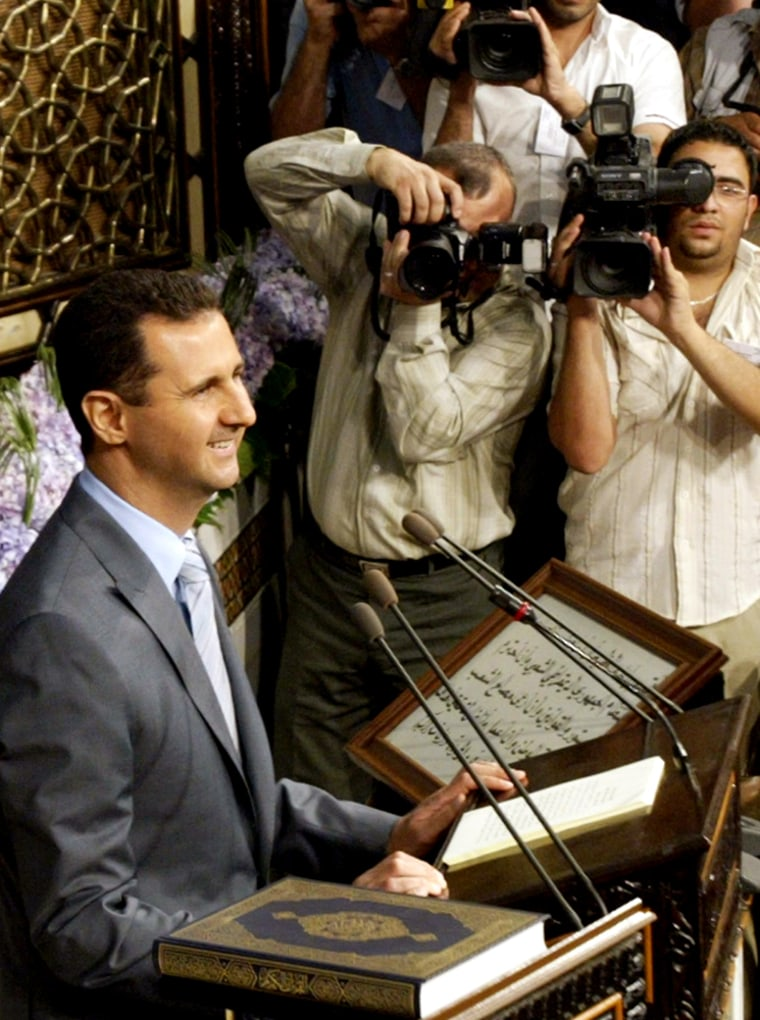 Photographers take pictures of Syrian Pr