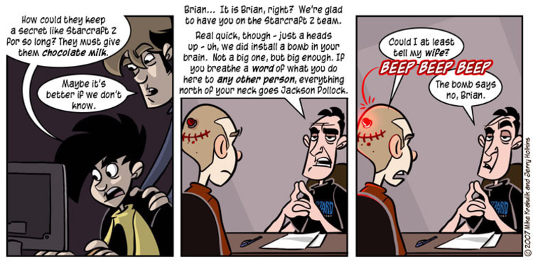 """This Penny Arcade comic """"outed""""  its long-awaited real-time strategy sequel."""