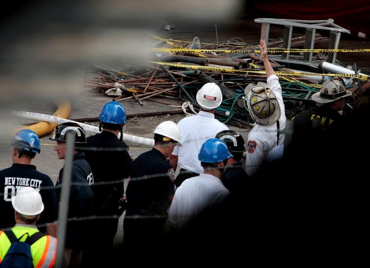 Demolition Work Continues Near Ground Zero After Fatal Fire