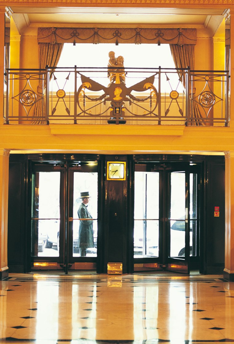 """The Dorchester in London was the home away from home for the 17-member production crew from New Zealand that was completing the music editing for """"The Lord of the Rings: The Two Towers."""" They enlisted the hotel's """"E-butlers"""" to create a secure network to communicate with their colleagues in New Zealand; security was paramount, due to the sensitive nature of the film's contents. The film later went on to win two Oscars."""
