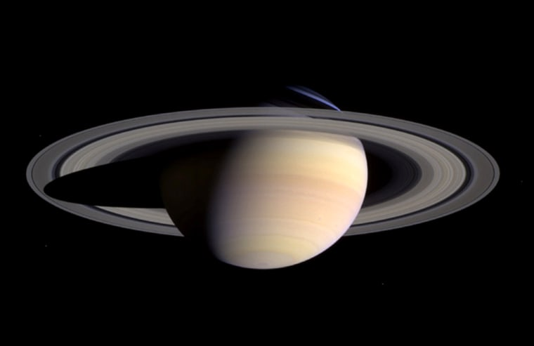 The formation of Saturn's rings is but one of the planet's many mysteries. They look solid, but they're made of particles, mostly dirty ice, from small grains to big boulders.