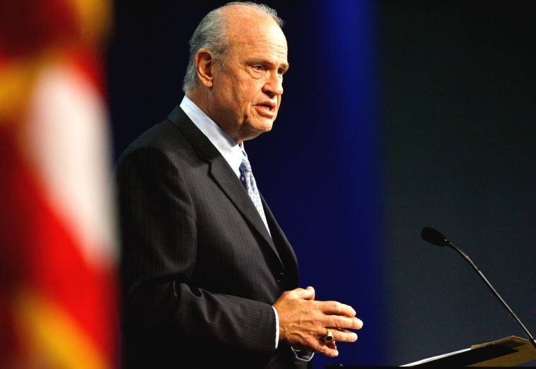 Former Senator and actor Fred Thompson speaks and attends the 108th National Convention Veterans of Foreign Wars of the U.S.