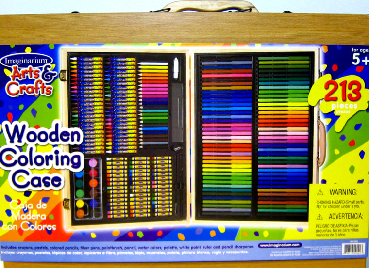 """Toys """"R"""" Us is recalling thiscrayon and paint set made in China because the packaging of the wooden box contains lead, as does some of the watercolor paint within."""