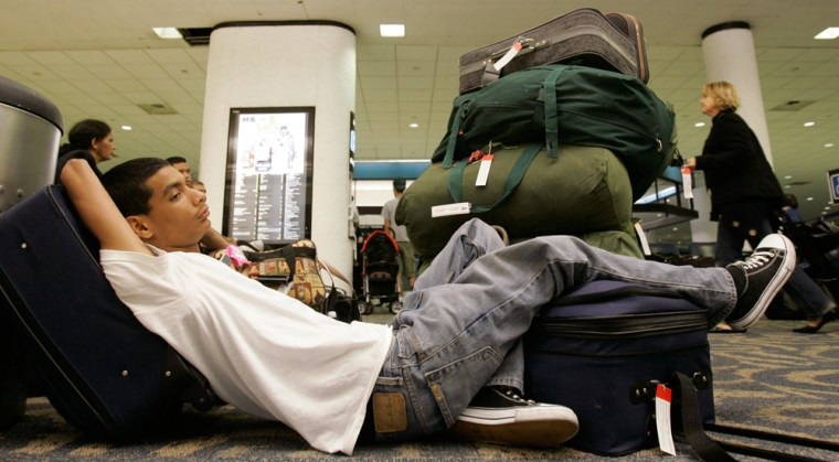The on-time arrival rates of the major U.S. carriers fell in July, the government reported, to below 70 percent.
