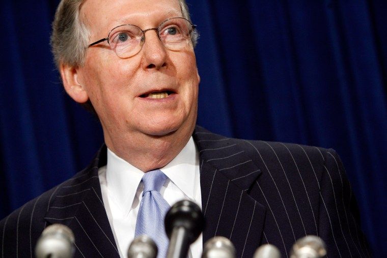 Senator McConnell Outlines GOP Legislative Priorities