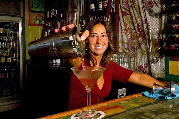 On Fridays, head to Paia in the Maui upcountry to join sunkissed surfers and beach beauties at Jacques Bistro as a DJ spins world music. Jaci serves up Love in a Bucket: four flavored vodkas and a blend of juices served in a big, globe glass. The drink is as strong as a Long Island Iced Tea and you will only be allowed two.