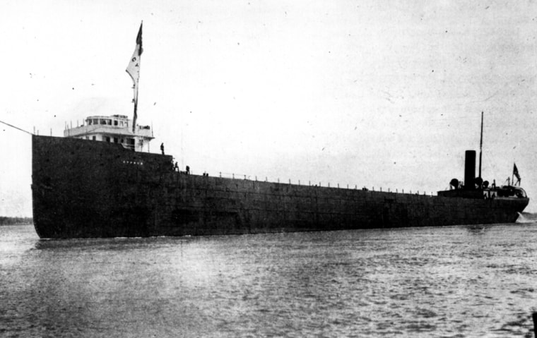 This photo provided by the Great Lakes Shipwreck Historical Society shows the Cyprus, an ore carrier, on her maiden voyage.