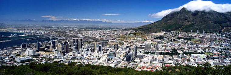 A view of Cape Town, South Africa, with