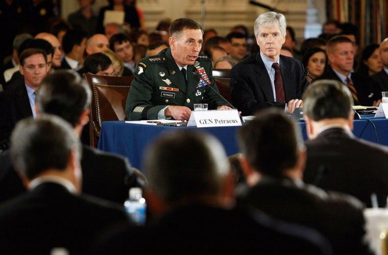 Patraeus And Crocker Testify Before Congress On State Of Iraq War
